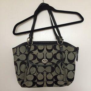 Coach Leah Signature Logo Tote Bag/Purse